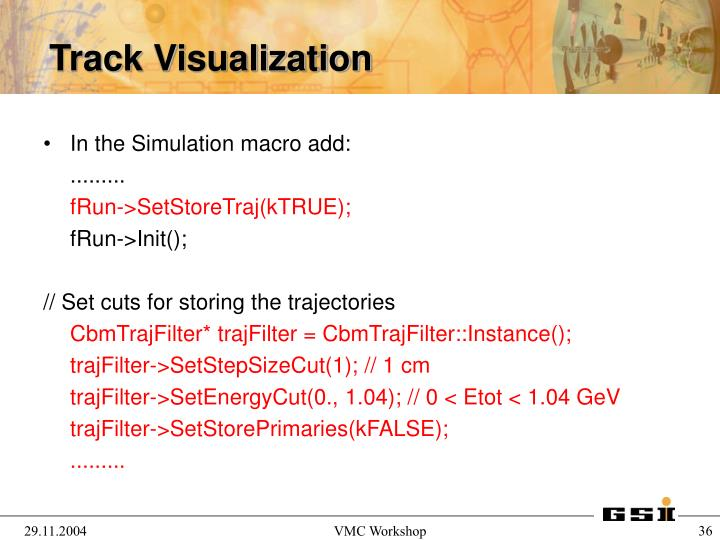 In the Simulation macro add: