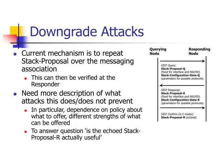 Downgrade Attacks