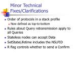 minor technical fixes clarifications