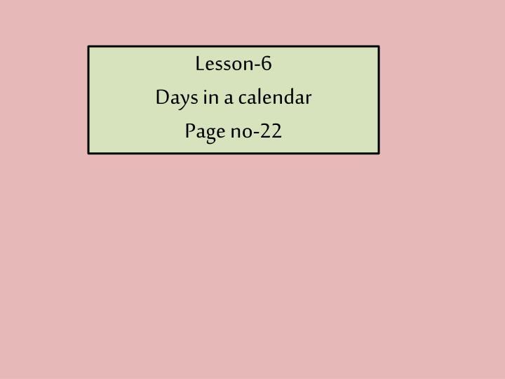 Lesson-6
