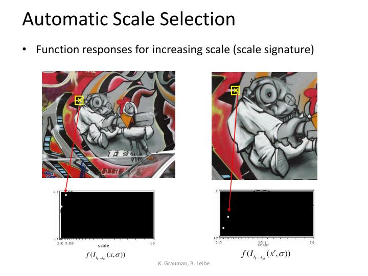 Automatic Scale Selection