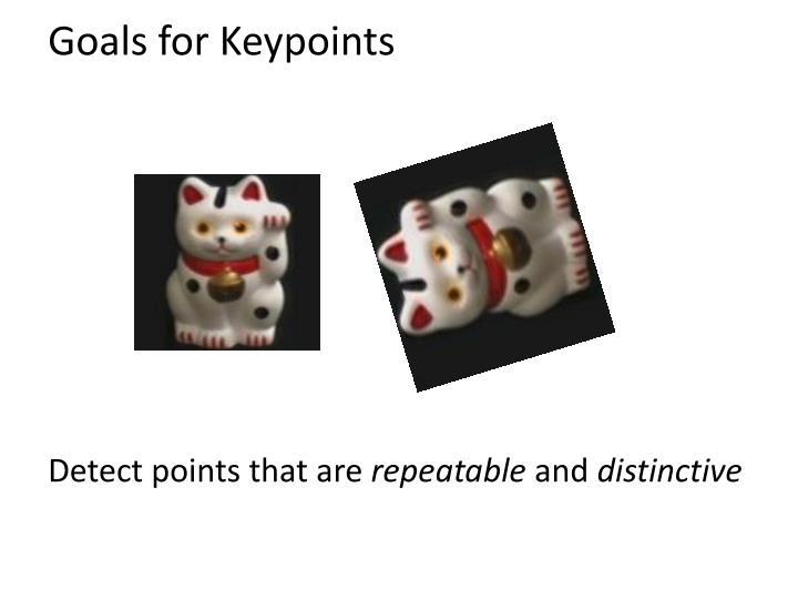 Goals for Keypoints