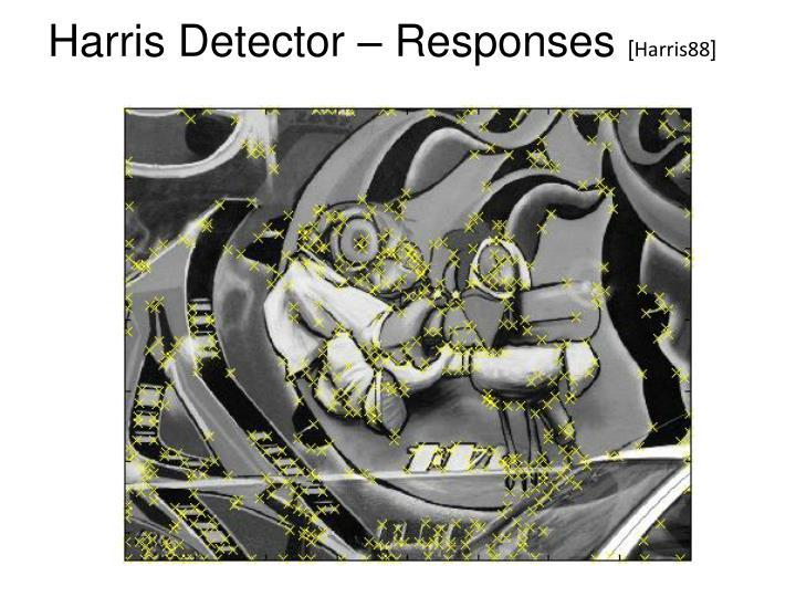 Harris Detector – Responses