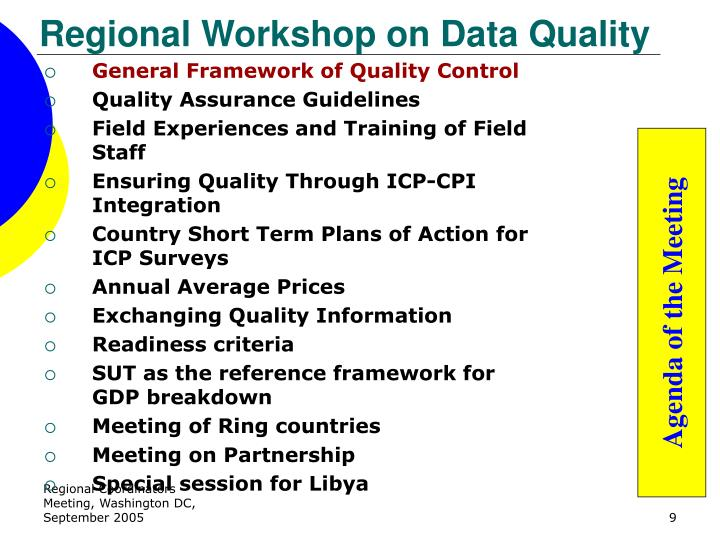 Regional Workshop on Data Quality