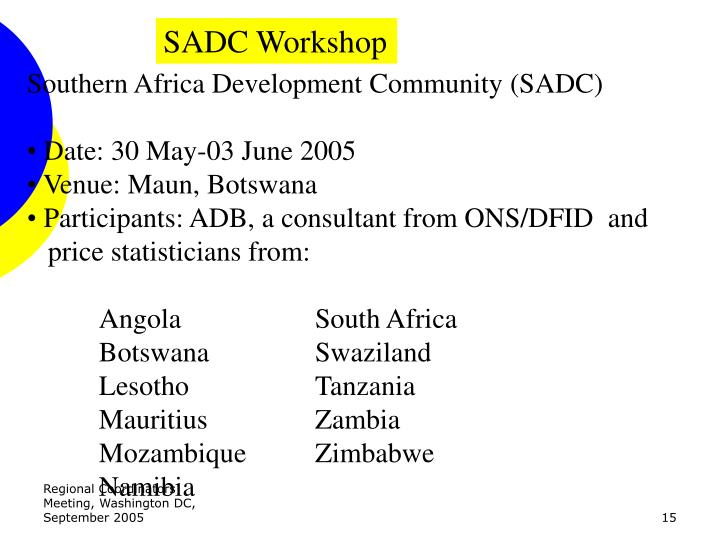 SADC Workshop