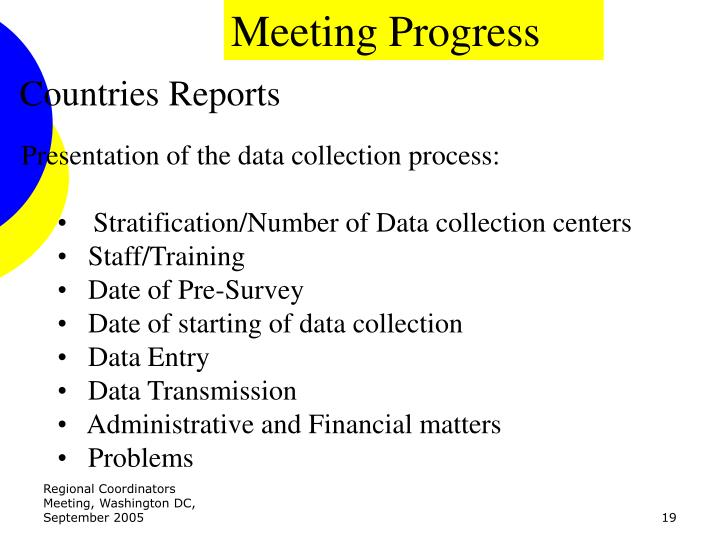 Meeting Progress