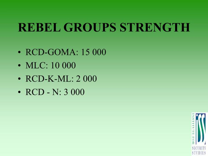 REBEL GROUPS STRENGTH