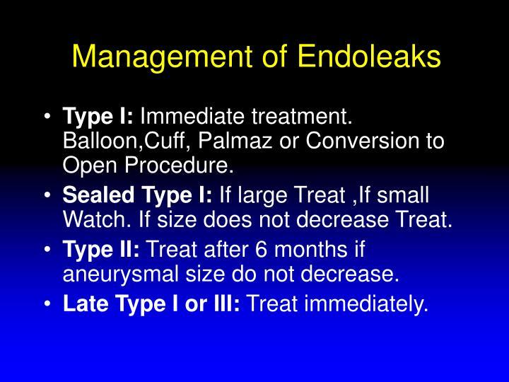 Management of Endoleaks