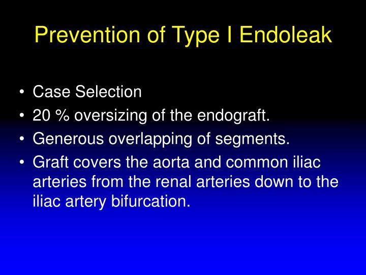 Prevention of Type I Endoleak