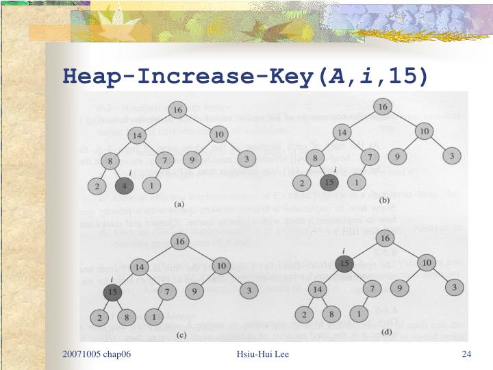 Heap-Increase-Key(