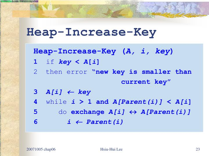 Heap-Increase-Key