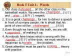 book 5 unit 1 words