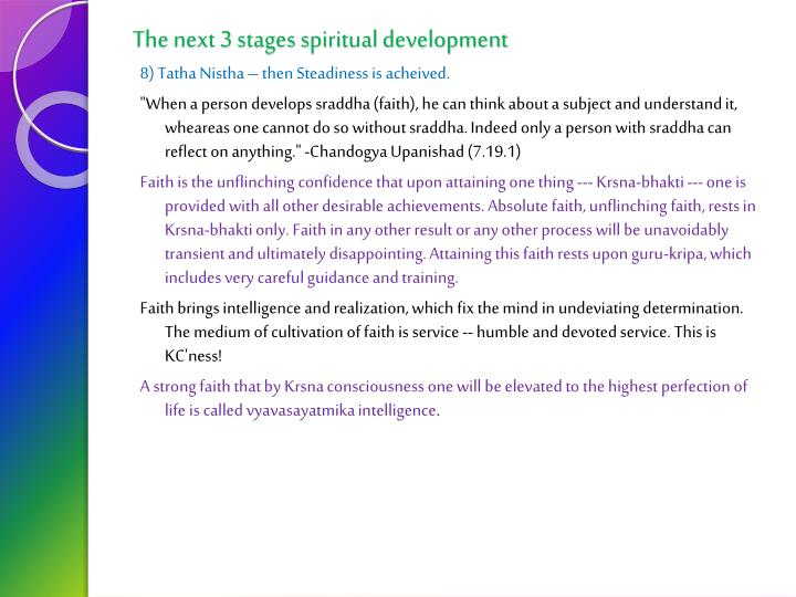 The next 3 stages spiritual development