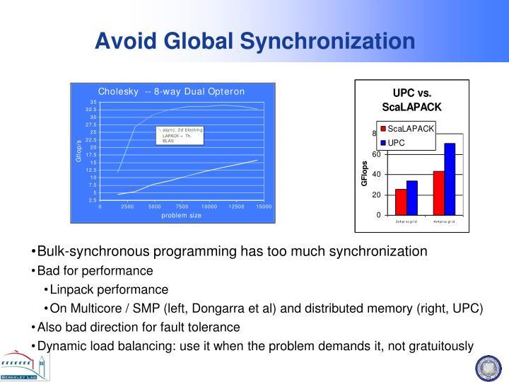 Avoid Global Synchronization