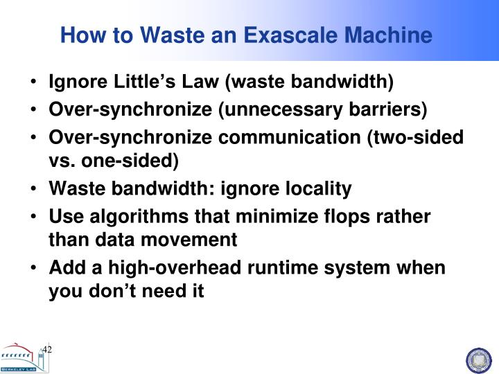 How to Waste an Exascale Machine