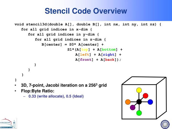 Stencil Code Overview