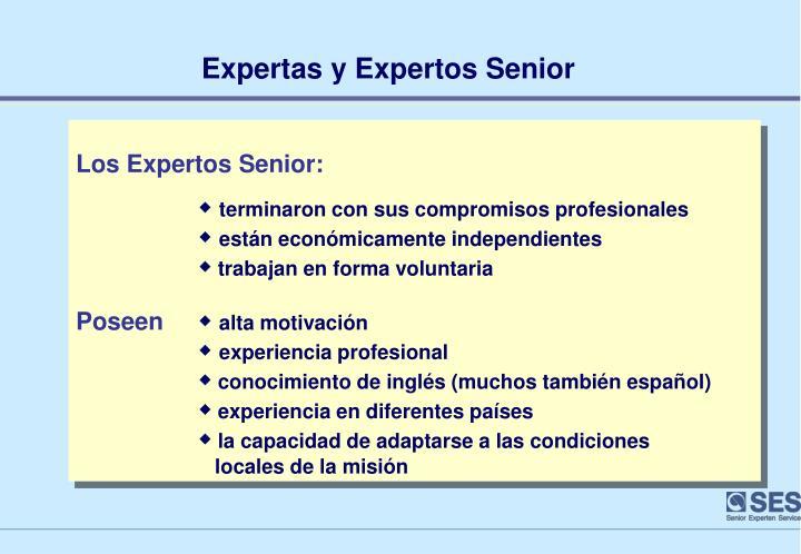 Expertas y Expertos Senior