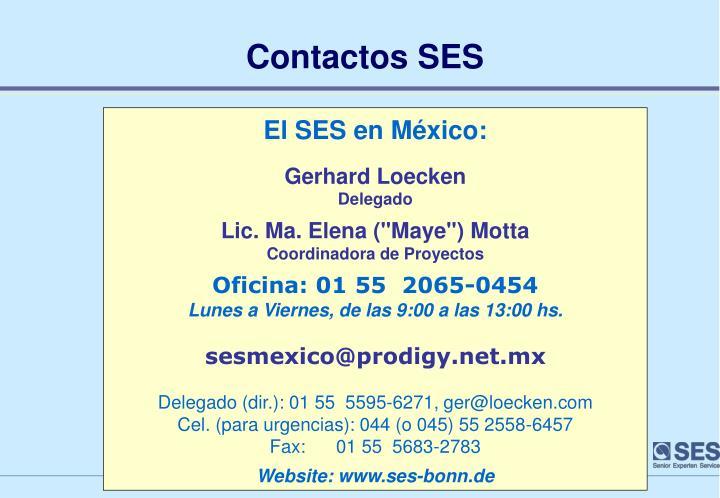 Contactos SES