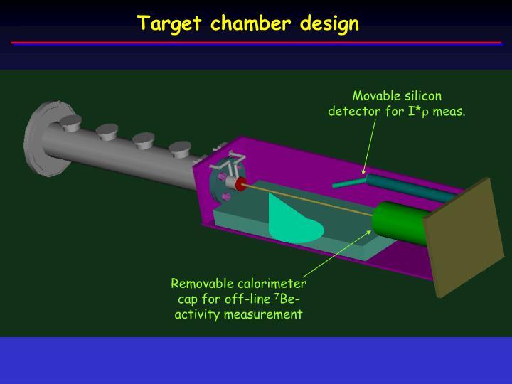Target chamber design