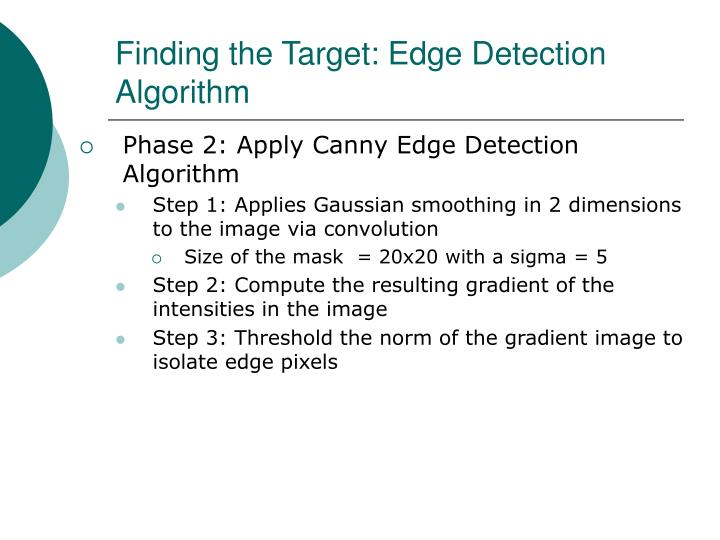 Finding the Target: Edge Detection Algorithm