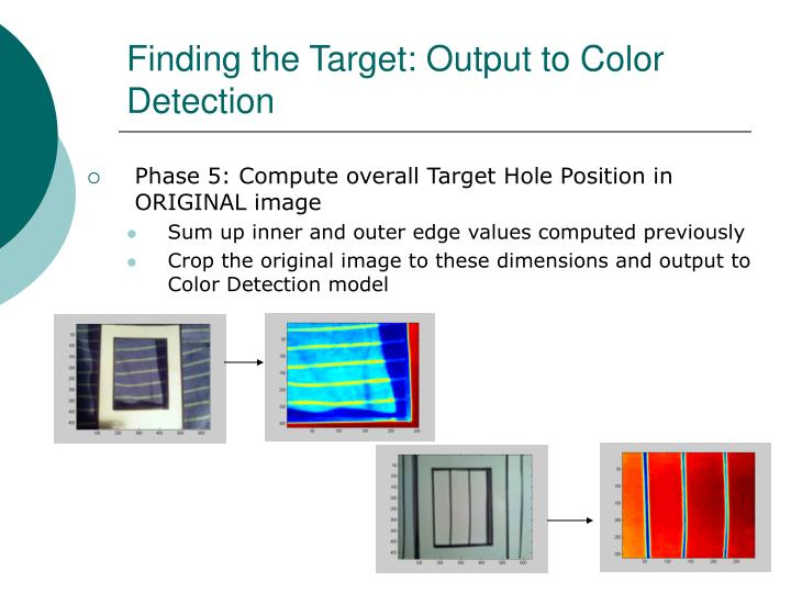 Finding the Target: Output to Color Detection