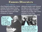 famous dissenters