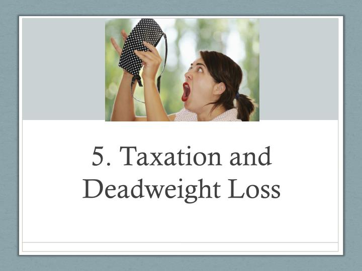 5. Taxation and Deadweight Loss