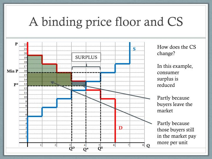 A binding price floor and CS