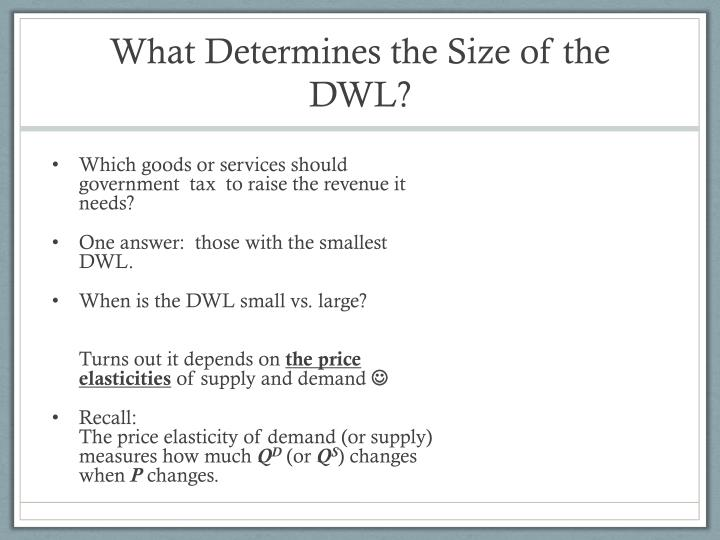 What Determines the Size of the DWL?