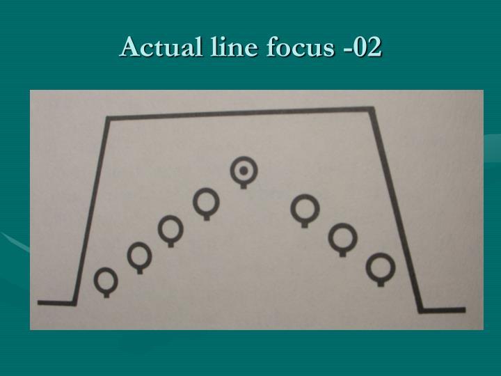 Actual line focus -02