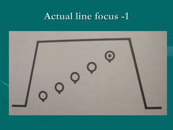 Actual line focus -1