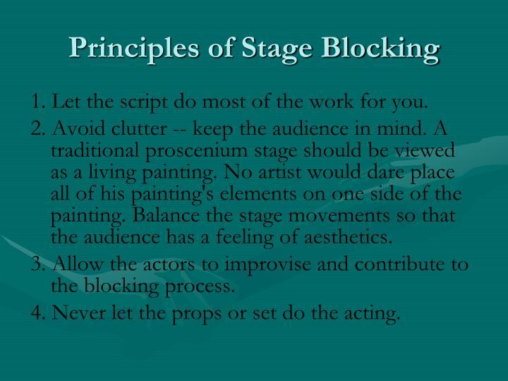 Principles of Stage Blocking