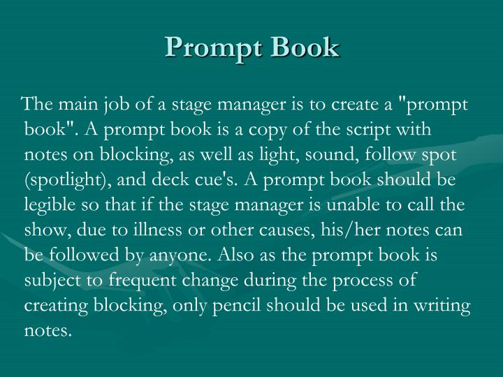Prompt Book
