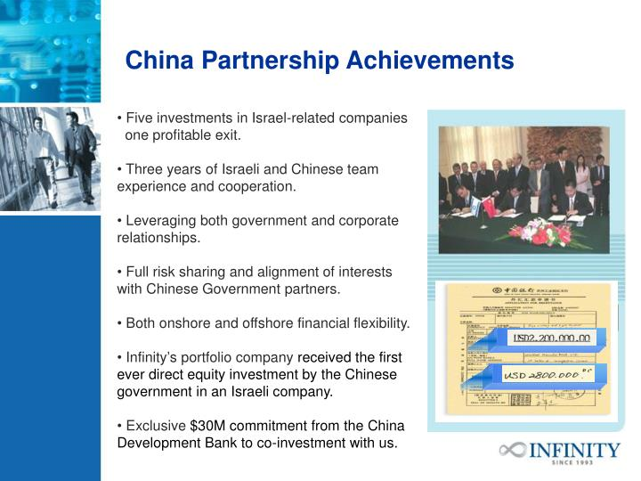 China Partnership Achievements