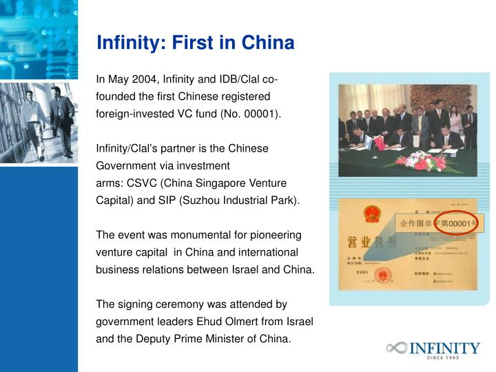 Infinity: First in China