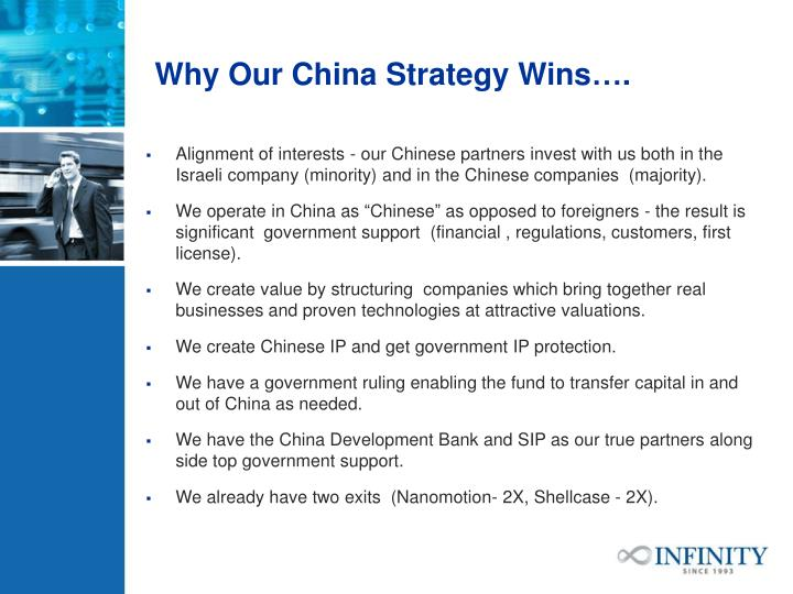 Why Our China Strategy Wins….