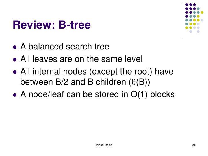 Review: B-tree