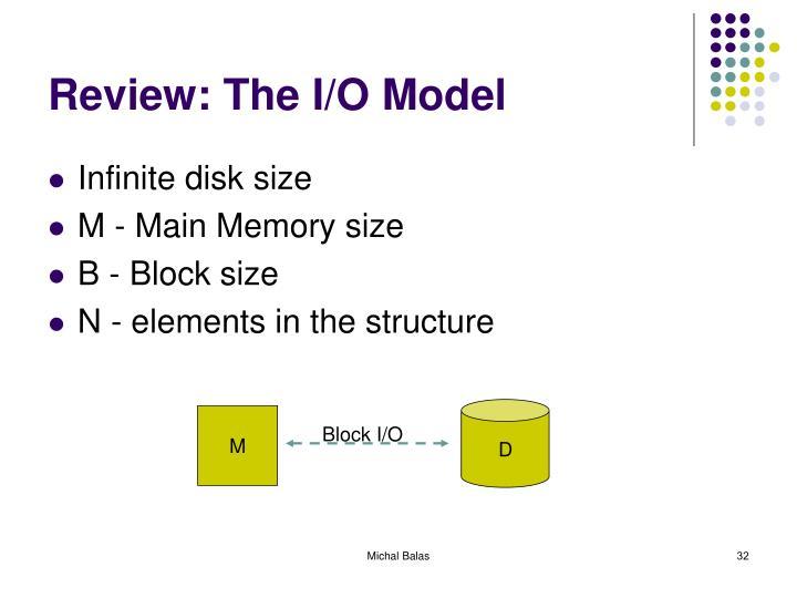 Review: The I/O Model