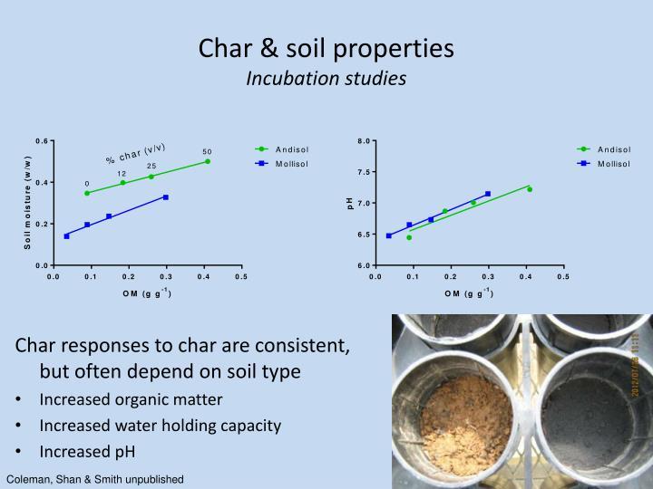Char & soil properties