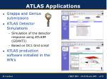 atlas applications