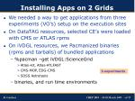 installing apps on 2 grids