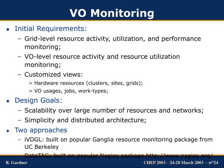 VO Monitoring