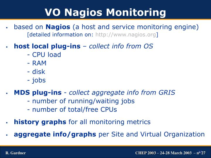 VO Nagios Monitoring