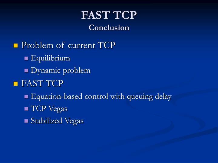 FAST TCP