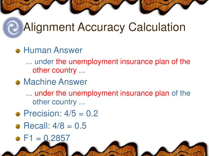 Alignment Accuracy Calculation