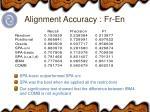 alignment accuracy fr en