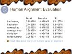 human alignment evaluation