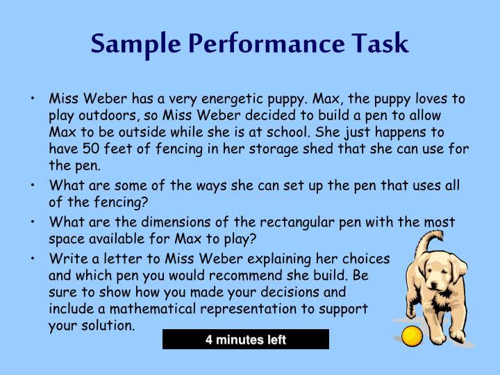 Sample Performance Task