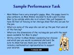 sample performance task7