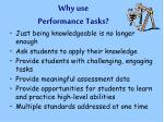why use performance tasks1